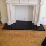 Black Slate Fireplace Hearth, London Victoria SW1X