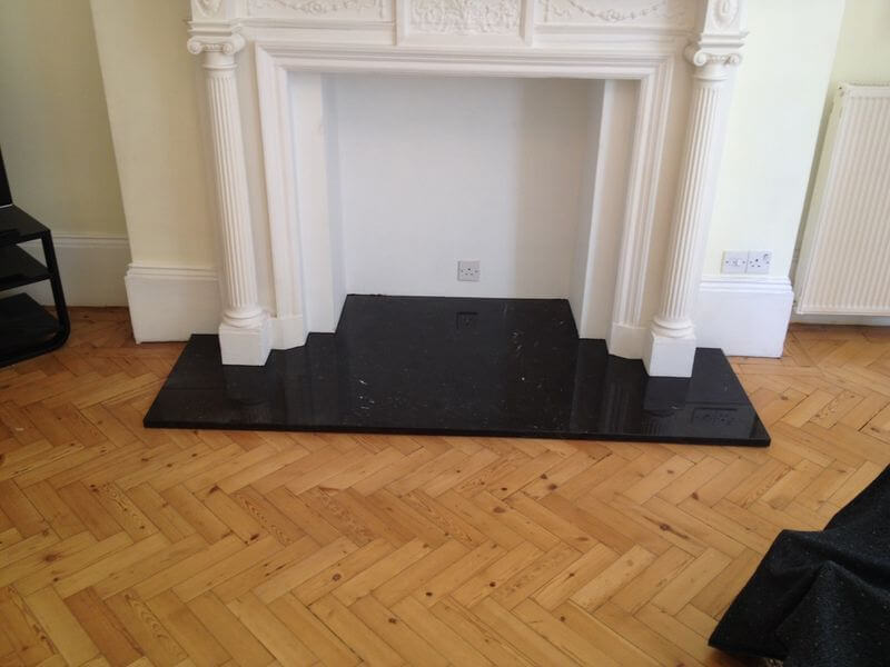 Black Slate Fireplace Hearth, London Victoria SW1X