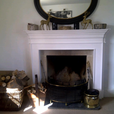 White Antalya Limestone Fireplace, Middle Barton, OX7