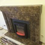 Dark Emperador Marble Fireplace, London Baker Street W1