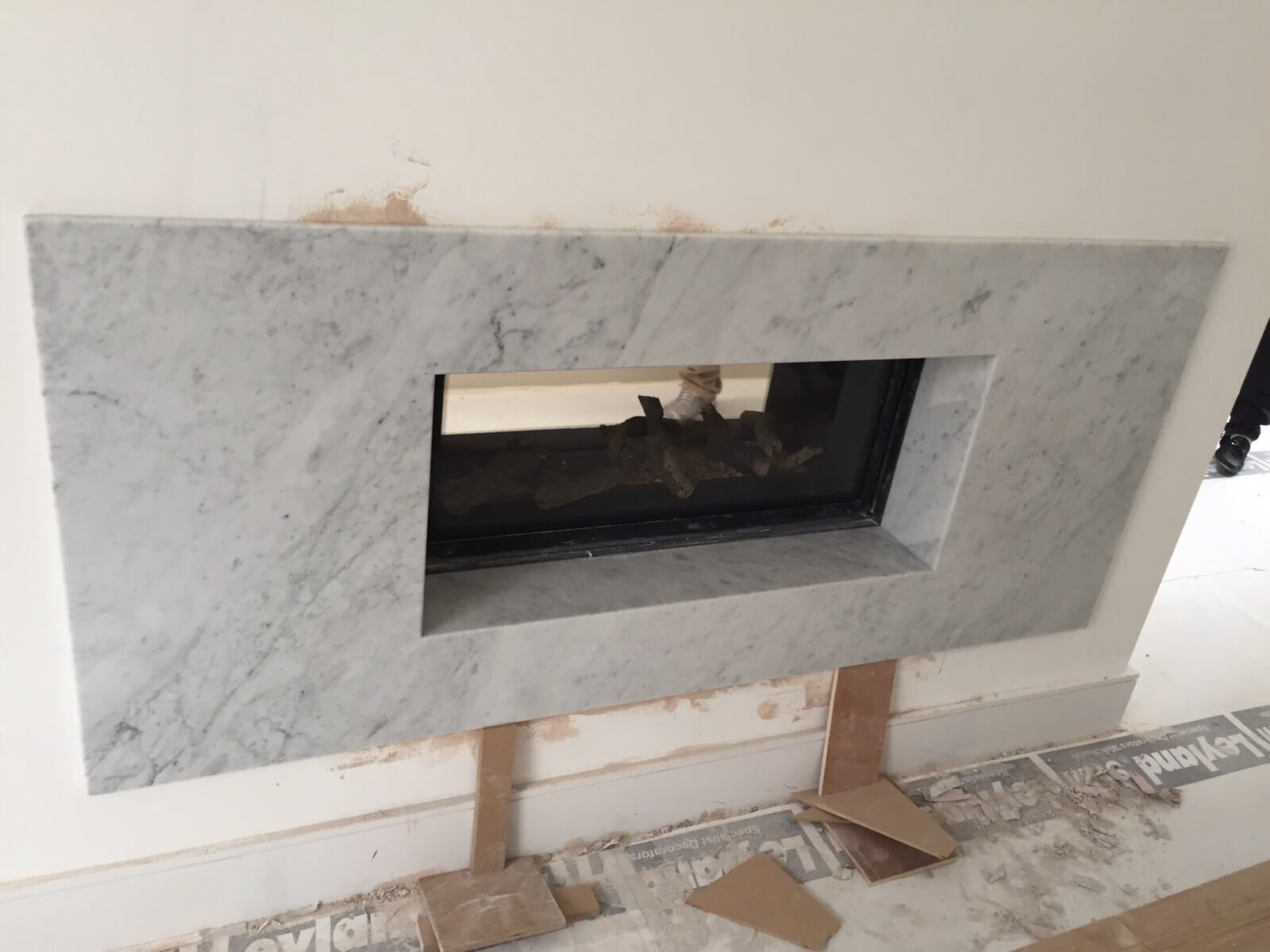 Carrara Marble Fireplace Surround, London Chelsea SW3