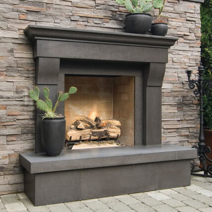 Grey Slate External Fireplace, Weybridge, KT13
