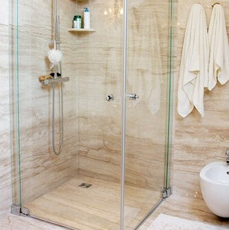 Light Travertine Bathroom, London Chelsea SW3