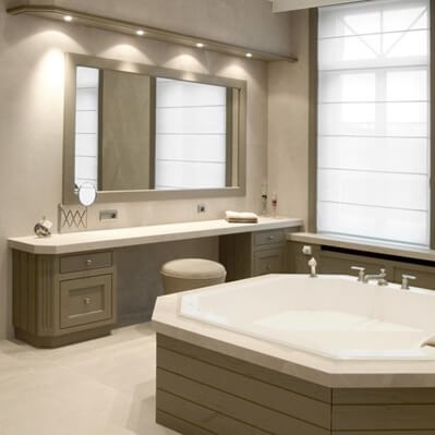 Crema Marfil Marble Vanity Top and Bath Panel, London Balham, SW17