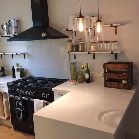 Ceasarestone Composite Frosty Carrina Kitchen Worktop, London Fulham SW6