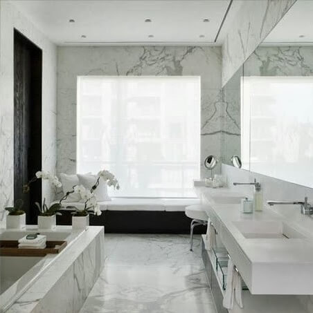 Calacattan Marble Bathroom, Stratford, E15