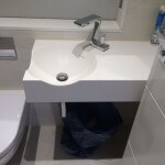 White Corian Vanity Top, London Maida Vale, W9