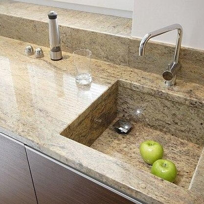 Ivory Brown Granite Kitchen Worktop, Harrow, HA2