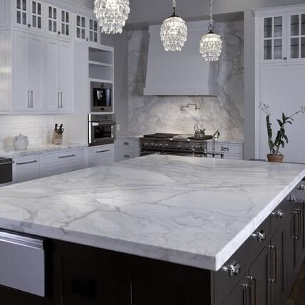Calacatta Marble Kitchen Island, London Chelsea, SW3