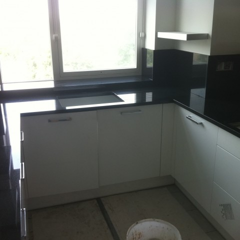 Black Absolute Kitchen Worktop, London Criclewood NW2