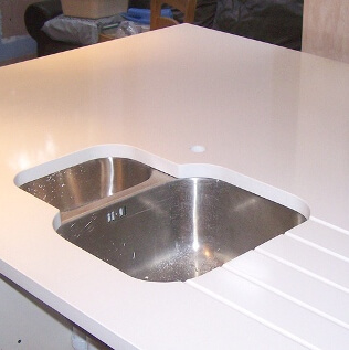White Quartz Kitchen Island, London Wembley HA0