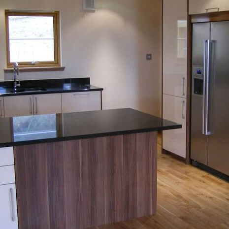 Black Composite Kitchen Worktop, Sutton, SM1