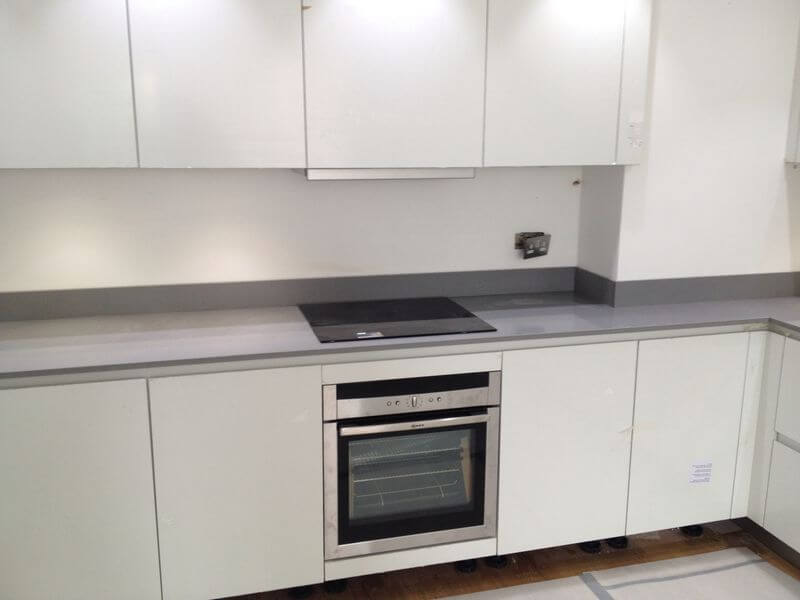 Grey Composite Kitchen Worktop and Upstand, London Chelsea, SW