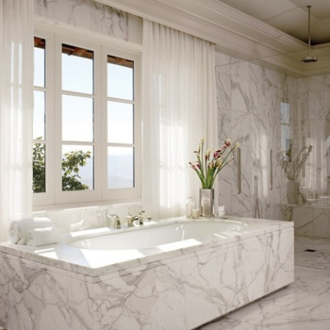 Calacatta Marble Bathroom, Weybridge KT13