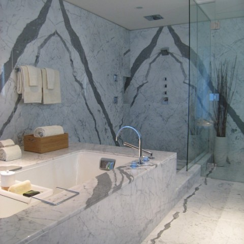 Statuario Marble Bathroom, London Kensington W14