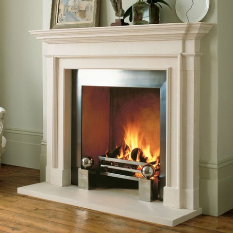 White Limestone Fireplace, Weybridge, KT13