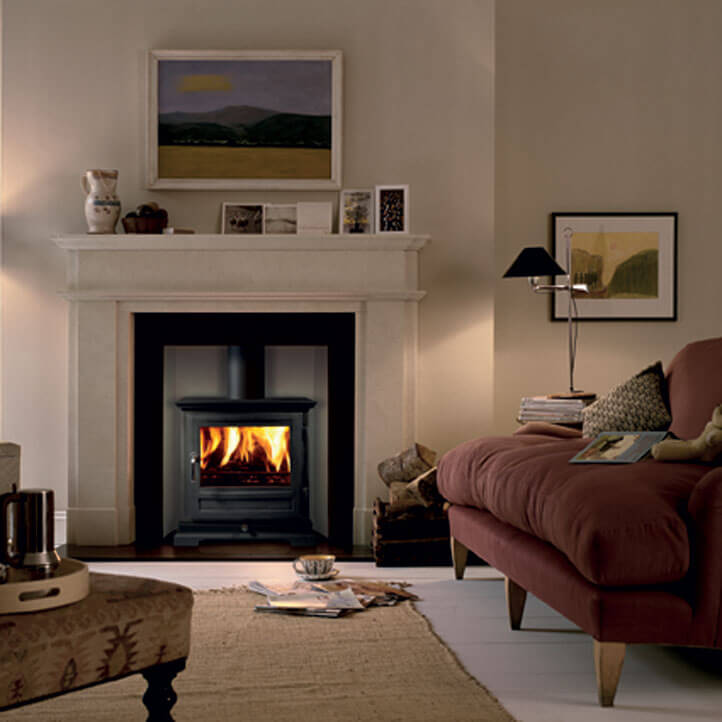 White Antalya Limestone Fireplace, London Ealing, W5