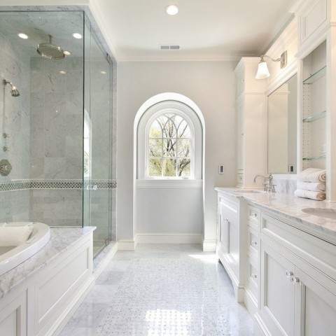 Carrara Marble bathroom Virginia Water