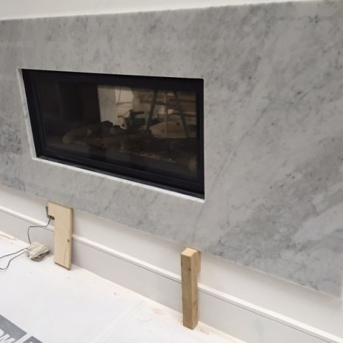 Carrara Marble bespoke made fireplace Chelsea, London 1