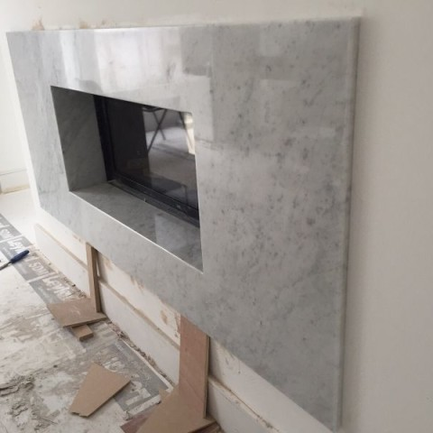 Carrara Marble bespoke made fireplace Chelsea, London 2