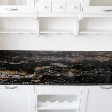 Cosmic Black granite top Harrow_ London