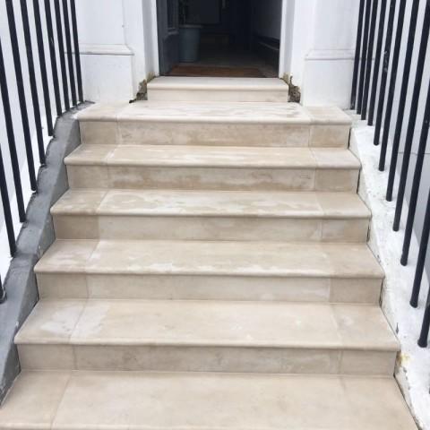 Portland Stone steps Chelsea, London 4