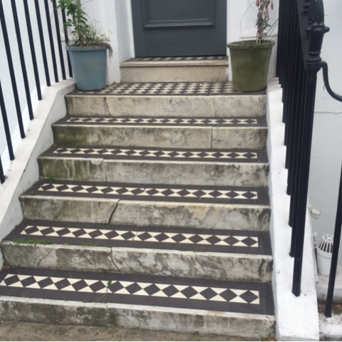 (steps before)  Portland Stone steps Chelsea, London 1